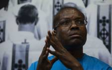 William Segodisho speaks about being sexually abused as a child by a Catholic Church priest at press conference at Protea Hotel, Wanderers. Picture: Abigail Javier/EWN