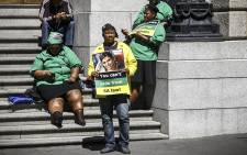 FILE: ANC Women's League members sitting outside the Western Cape High Court. Picture: Thomas Holder/EWN
