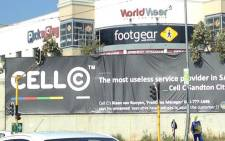 The Cell C banner posted by an angry customer. Picture: Twitter, @Radio702.