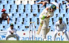 Proteas opener Dean Elgar plays a shot during day 3 of the first Test match against Pakistan at Centurion on 28 December 2018. Picture: @OfficialCSA/Twitter
