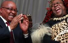 FILE: President Jacob Zuma (L) and Zulu King Goodwill Zwelithini (R), Picture: Supplied