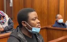 Bonginkosi Khanyile appears in the Durban Magistrates Court on 7 September 2021. Picture: Nhlanhla Mabaso/Eyewitness News