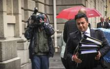 Shrien Dewani's brother and his legal team arriving at the Western Cape High Court on 3 November ahead of his murder trial. Picture: Thomas Holder/EWN.