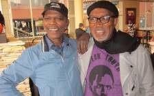 SA musician Sipho Hotstix Mabuse shared this picture on social media after learning of Ray Phiri's death. Picture: @siphohotstix/Twitter