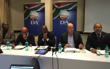 DA mayoral candidates for Ekurhuleni, Tshwane, Johannesburg and Nelson Mandela Bay address media in Rosebank on 31 May 2016. Picture: Masego Rahlaga/EWN