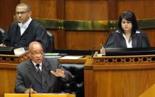 President Jacob Zuma in Parliament. Picture: GCIS.