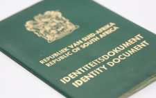 South African Identity Document. Picture: Supplied.