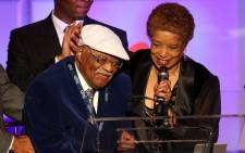 Recording artist Clark Terry (L) and his wife accept an award during the 52nd annual GRAMMY Awards-Special Merit Awards at the Wilshire Ebell Theater on 30 January, 2010 in Los Angeles, California. Picture: AFP