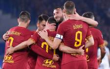 AS Roma players celebrate a goal. Picture: @ASRomaEN/Twitter