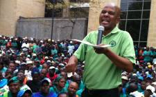 FILE: Amcu president Joseph Mathunjwa delivers a speech during the handing of memorandum at the Impala Platinum's headquarters in Johannesburg on 27 March 2014. Picture: Gia Nicolaides/EWN.