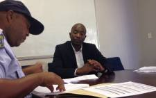 Democratic Alliance leader Mmusi Maimane lays criminal charges against President Jacob Zuma at Johannesburg's Rosebank Police Station. Picture: Twitter/@Our_DA.