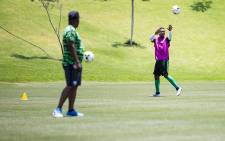 Bafana Bafana at Steyn City School Training game ahead of their crucial Afcon qualifier against Nigeria Saturday.Picture: Sethembiso Zulu/EWN