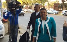 Nomgcobo Jiba arriving in court in Pretoria on 19 August 2015. Picture: Barry Bateman/EWN.
