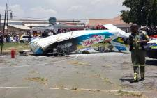 Three people died when a light aircraft crashed in Benoni on 3 February 2016. Picture: Supplied.