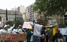 FILE: Workers from the Jozi@Work protest on 23 February 2017 after Mayor Herman Mashaba scrapped the programme. Picture: Tendani Mulaudzi/EWN.