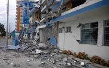 FILE: This file photo shows a house severely damaged by an earthquake earlier in the morning in Esmeraldas, province of Esmeraldas, northwestern Ecuador. Picture: AFP.