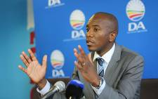 Democratic Alliance leader, Mmusi Maimane at Eskom briefing. Picture: Reinart Toerien/EWN.