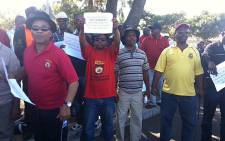 Striking bus drivers gather in Athlone on 25 April 2013. Picture: Lauren Isaacs/EWN