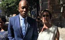 DA leader Mmusi Maimane and his wife, Natalie, at the 2019 state of the nation address in Parliament, Cape Town. Picture: Monique Mortlock/EWN