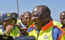 President Cyril Ramaphosa launches transport month on the N3 on Saturday 5 October 2019. Picture: Twitter