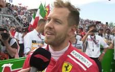 Ferrari driver Sebastian Vettel. Picture: @F1/Twitter