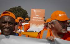 Roughly 3,000 Solidarity members marched on Sasol in Secunda on 6 September 2018 demanding equal treatment with regards to the new Khanyisa staff scheme. Picture: Thomas Holder/EWN