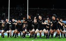 The All Blacks doing the haka. Picture: Twitter/@AllBlacks.