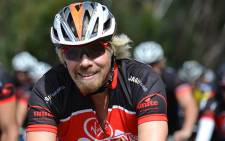 Virgin boss Richard Branson riding the Pick n Pay/Cape Argus Cycle Tour on 10 March 2013. Picture: Aletta Gardner/EWN.