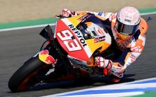 Repsol Honda Team rider Marc Marquez during the third MotoGP free practice session of the Spanish Grand Prix at the Jerez racetrack in Jerez de la Frontera on 18 July 2020. Picture: AFP