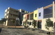 some of the homes being prepared for the land claimants returning to District Six. Picture: Graig-Lee Smith/Eyewitness News