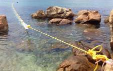 A body was found at a shark exclusion net on Fish Hoek beach on 2 January 2015. Picture: Aletta Gardner/EWN