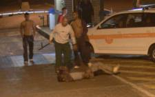The assault on a student by a UJ professor was caught on camera.  Picture: Supplied
