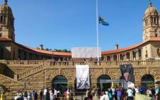 People pay their respects to the late Nelson Mandela at the Union Buildings in Pretoria on 12 December 2013. Picture: Abed Ahmed/EWN.