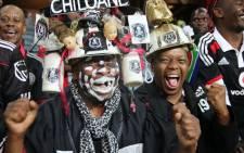 Orlando Pirates fans at the Orlando Stadium in Soweto. Picture: Leeto M Khoza/EWN.