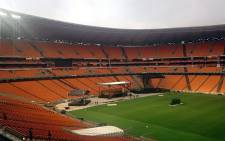 Security, officials and the media are busy setting up at FNB Stadium for the Nelson Mandela memorial service which has been dubbed as the biggest the world has seen. Camilla Bath/EWN