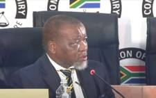 African National Congress (ANC) chairperson Gwede Mantashe testified at the state capture commission on 14 April 2021. Picture: YouTube screengrab/SABC.