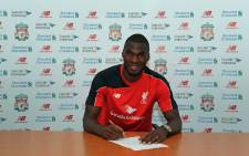 Liverpool's new signing, Christian Benteke. Picture: Liverpool FC/Facebook.