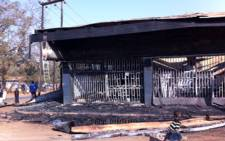 A burnt-out shop in Lilongwe after the 20 July protests in Malawi. Picture: Barry Bateman/EWN