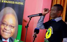ANC Youth League's Ronald Lamola celebrates the 21st anniversary of the South African Students Congress (Sasco) at the University of KwaZulu-Natal's Westville campus on Saturday, 8 September 2012. Picture: SAPA.