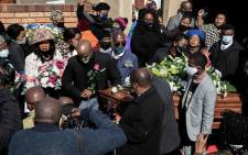 The funeral for 28-year-old Tshegofatso Pule was held in Meadowlands, Soweto, on 11 June 2020. Picture: Kayleen Morgan/EWN