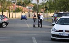 A shooting incident in The Meadows Estate in Moreletapark earlier turned into a hostage situation. Picture: Barry Bateman/EWN.