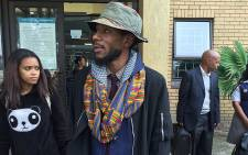 Yasiin Bey outside the Bellville Magistrates Court on 12 May 2016. Picture: Xolani Koyana/EWN.