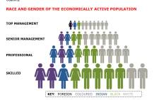 Workplace transformation. Infographic: Landi Groenewald/EWN.