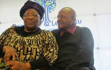 Archbishop Emeritus Desmond Tutu and his wife Nomalizo Leah Shenxane. Picture: Chanel September/EWN