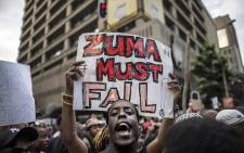 People call for the removal of President Jacob Zuma with the hashtag #ZumaMustFall. Picture: @Our_DA.