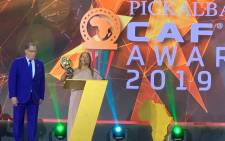 Banyana Banyana coach Desiree Ellis accepts her CAF Women's Coach of the Year in Cairo, Egypt on 7 January 2020. Picture: @Banyana_Banyana/Twitter