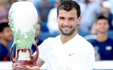 Grigor Dimitrov celebrates winning the 2017 Cincinnati Open. Picture: @ATPWorldTour/Twitter