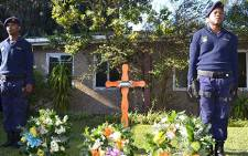 FILE: Wreaths laid down for three police officers killed in the Western Cape. Picture: EWN.