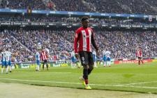Athletic's Inaki Williams was subjected to racist chanting in Saturday's, 25 January 2020, 1-1 draw at Espanyol where hooligan violence broke out before kick-off. Picture: @Williaaams45/Twitter.