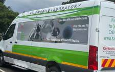Department of Health's mobile sampling and testing units. Picture: @DrZweliMkhize/Twitter.